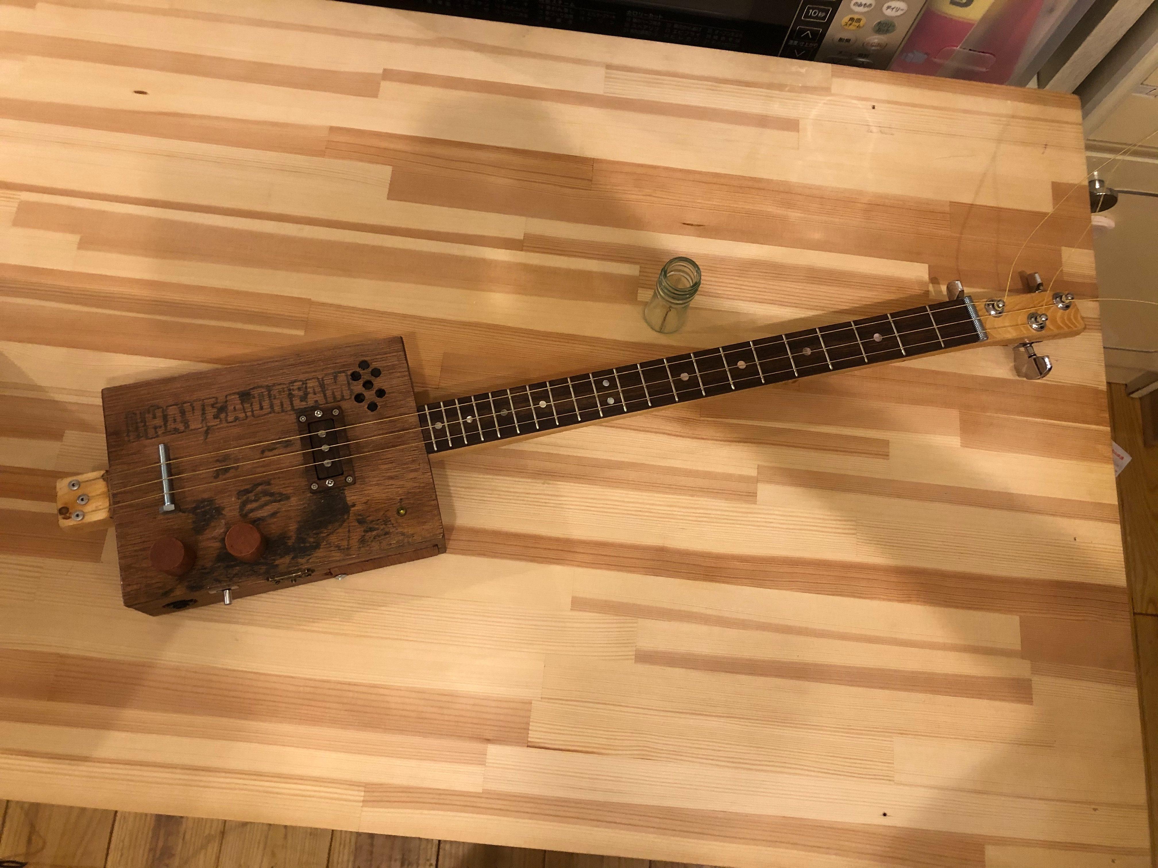 シガーボックスギター進捗プロト2 店作り工事 @わたし雑貨店